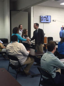 John Ray Clemmons meets with voters.
