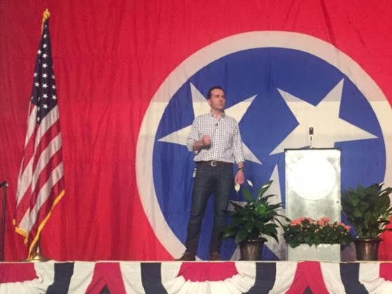 John Ray Clemmons gives speech